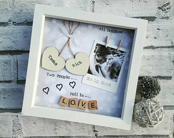 Anniversary Gift Wedding Personalised Frame Scrabble Gifts For Her