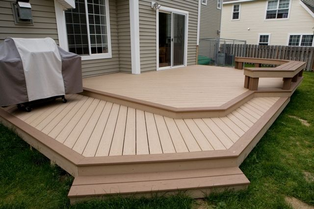 Deck design ideas trex cedar hardwood alaskan0119 trex for Composite deck railing