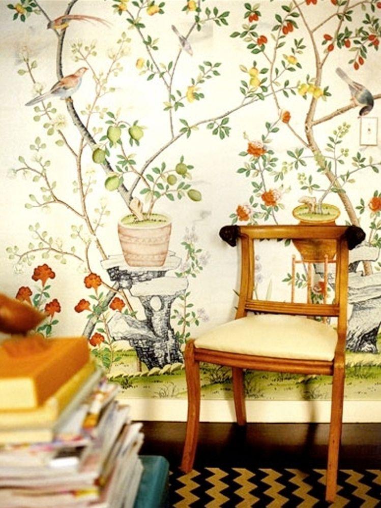 Image result for chinoiserie citrus wallpaper Decor