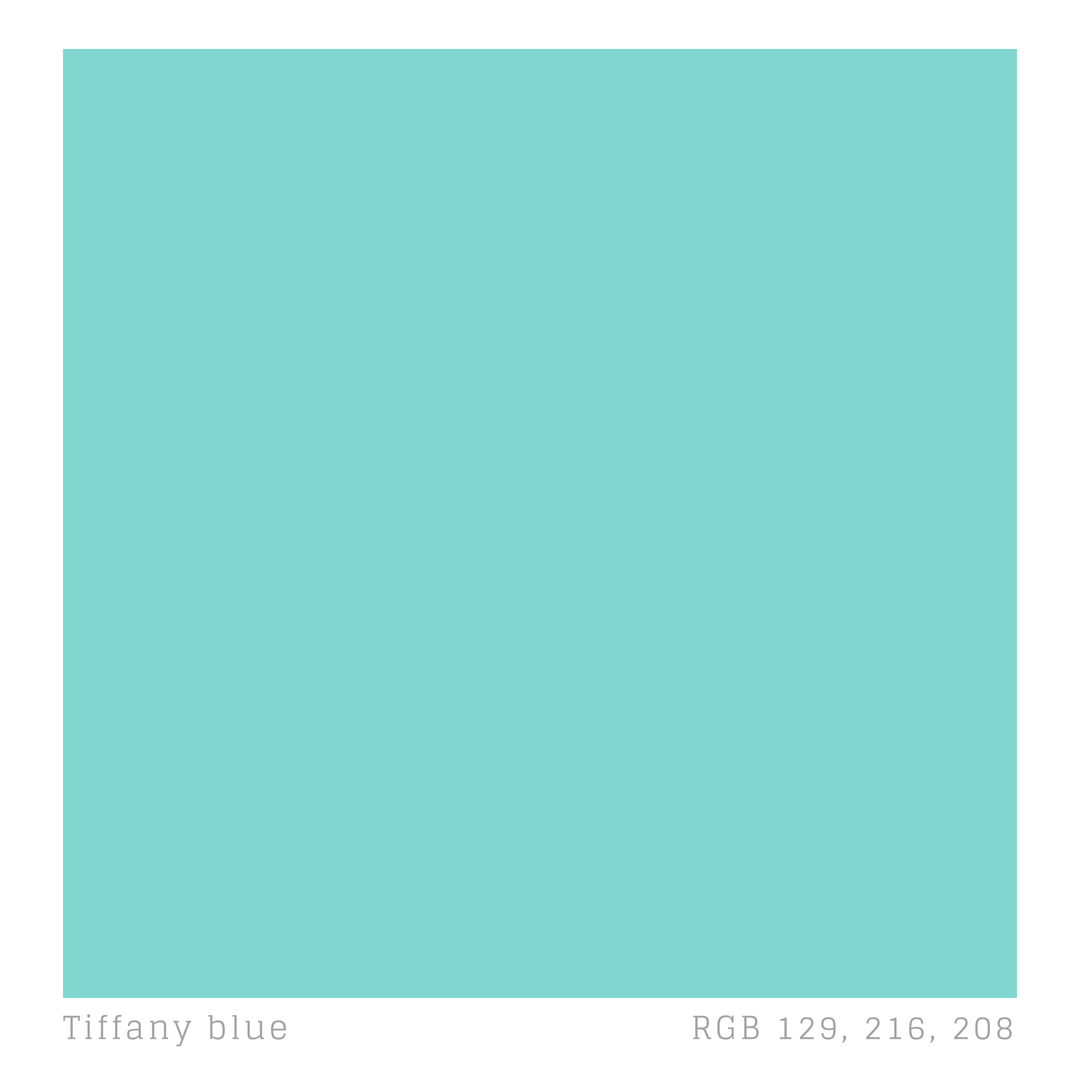 Tiffany Robin Egg Blue Pantone 1837 Was Introduced By The Company In Their First Catalogue Since That Time Has Been Used All