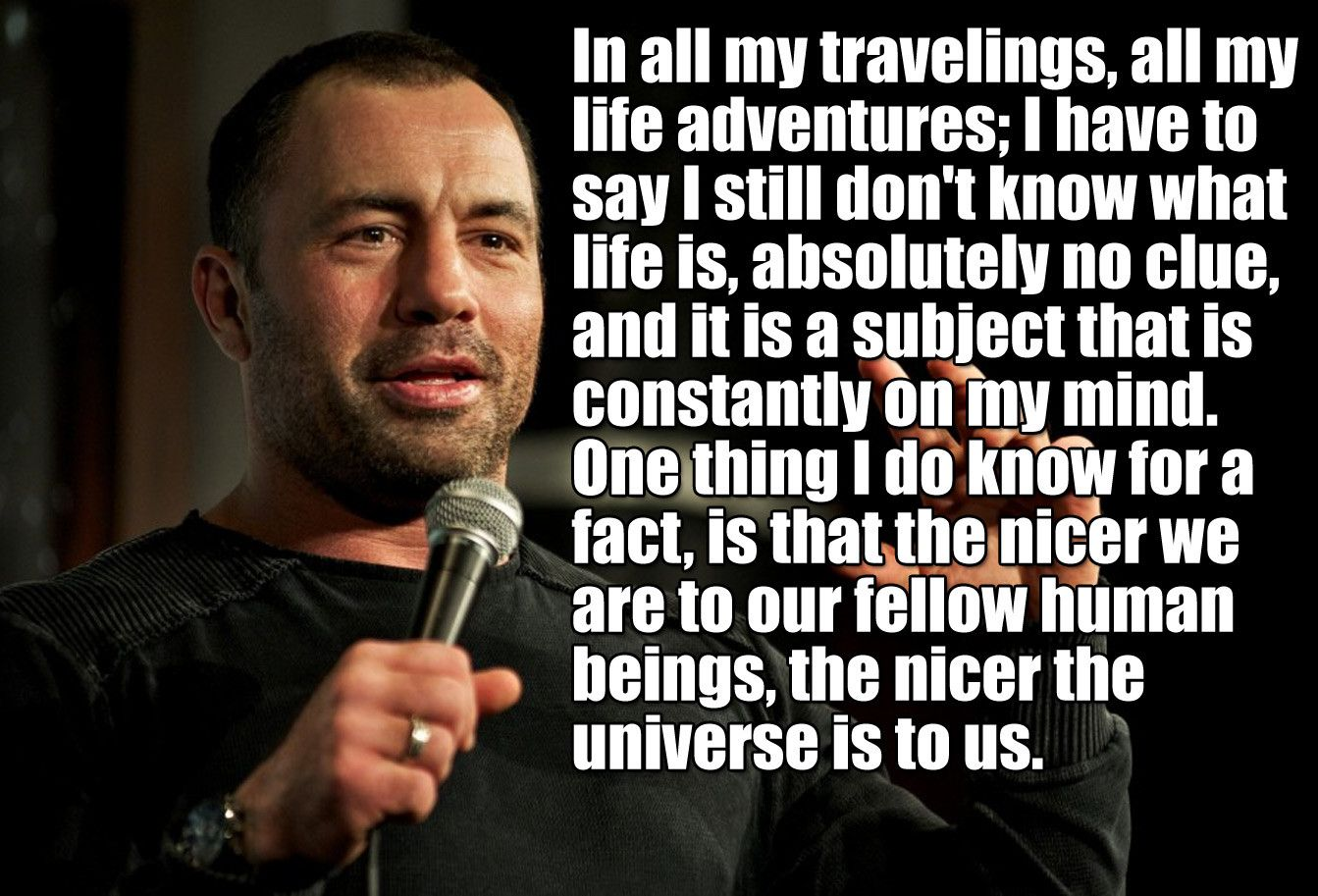 Some Deep Shit Joe Rogan Said When I Saw Him Live Life Quotes Joe Rogan Quotes Life Facts