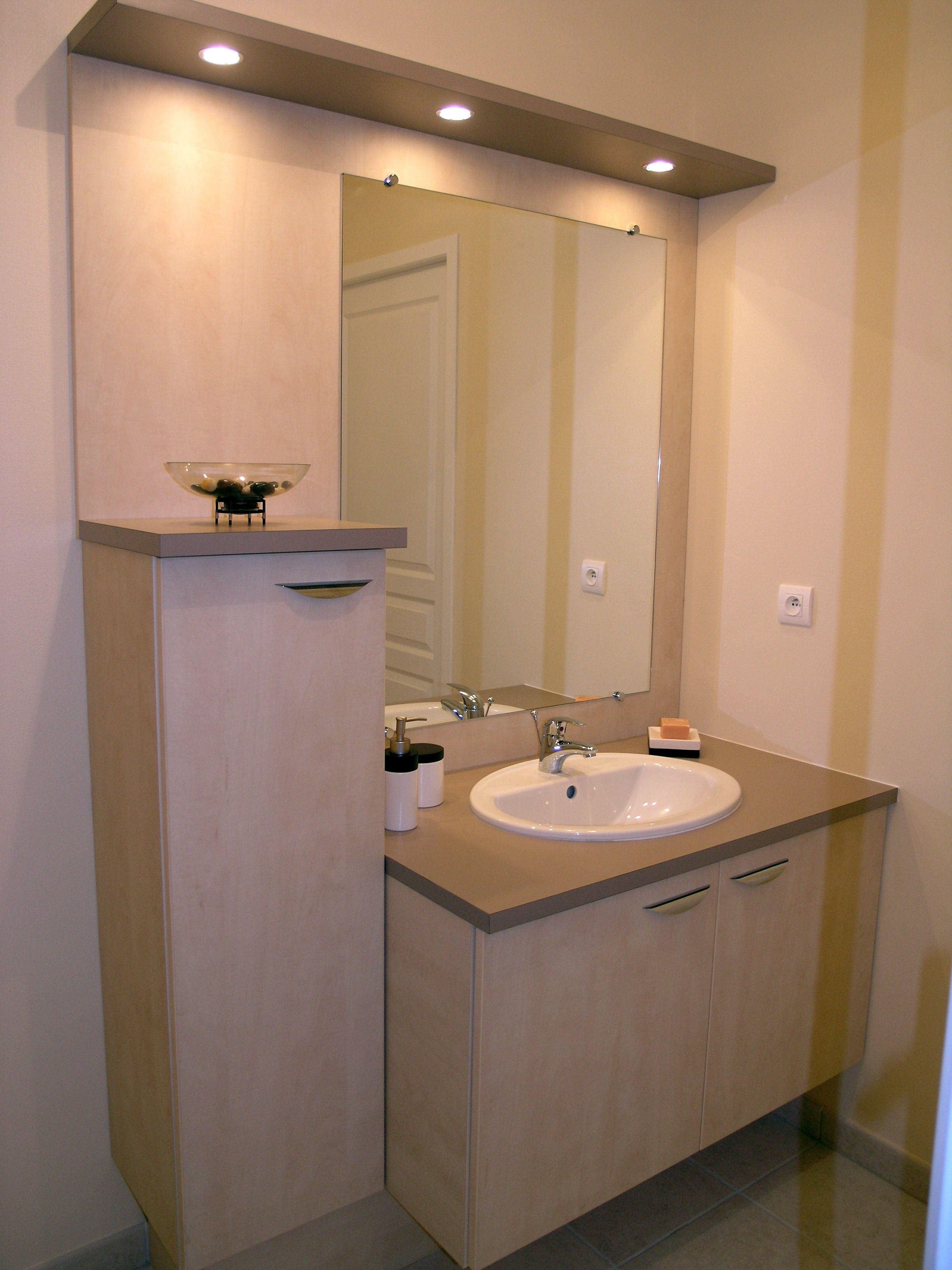 10 Minimaliste Meuble Salle De Bain Avec Miroir Et Eclairage Des ...