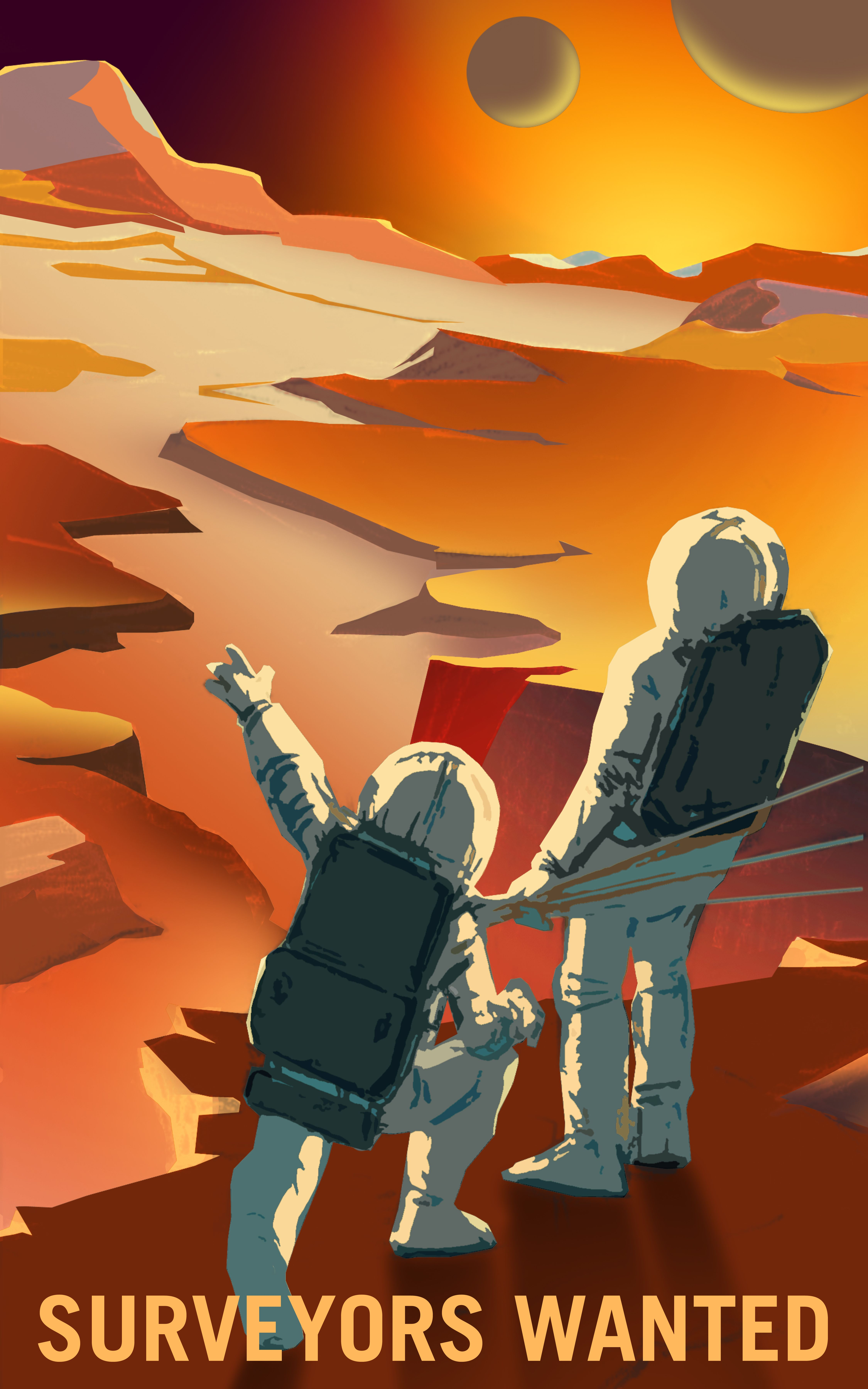 NASAs Mars Recruitment Posters Will Convince You To Go Die In - Retro style posters from nasa imagine how the future of space travel will look