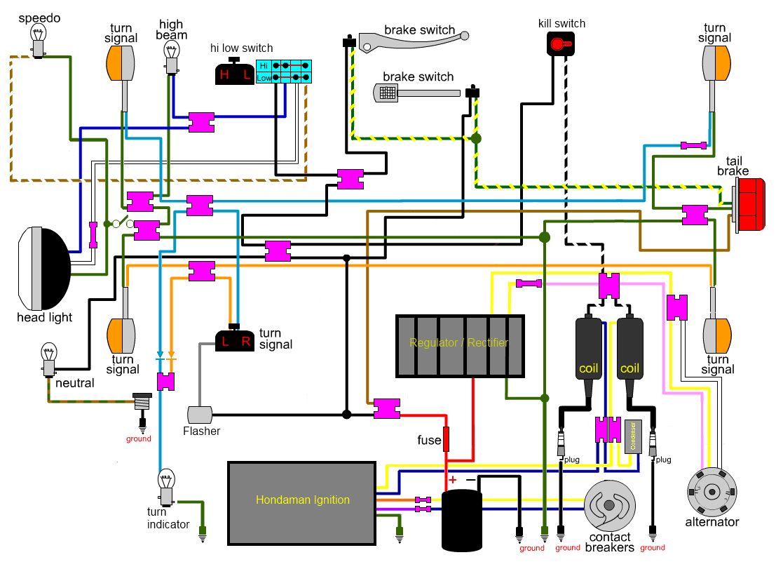 medium resolution of honda sl350 wiring diagram blog wiring diagram1970 honda 350 cb wiring use wiring diagram honda sl350