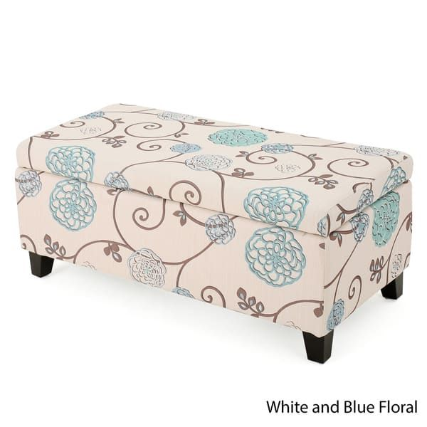 Astonishing Clay Alder Home Platte Floral Fabric Storage Ottoman For Andrewgaddart Wooden Chair Designs For Living Room Andrewgaddartcom