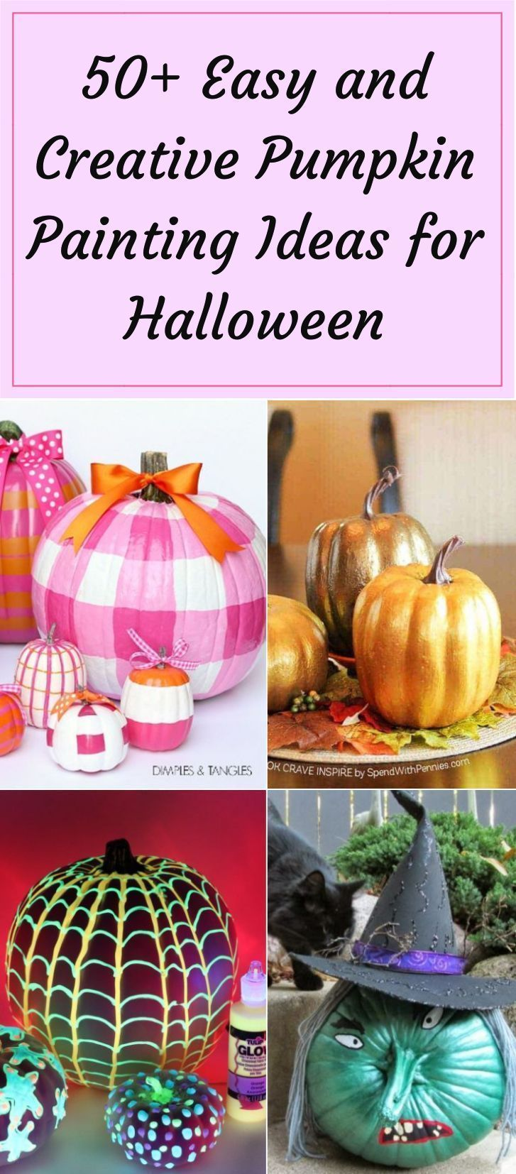 50+ Easy and Creative Pumpkin Painting Ideas for Halloween #pumpkinpaintingideascreative We have listed a few creative Halloween pumpkin painting ideas for your inspiration that can be left alone for long after the spookiness is gone and the colors of fall invade us. #paintedpumpkin #pumkinpaintingideas #halloweenpumpkin #pumpkindecoration #pumpkinpaintingideascreative 50+ Easy and Creative Pumpkin Painting Ideas for Halloween #pumpkinpaintingideascreative We have listed a few creative Halloween #pumpkinpaintingideascreative