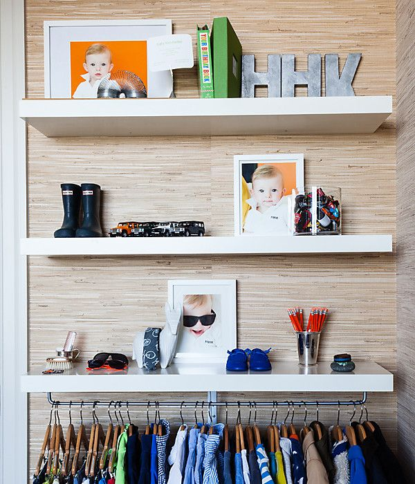 Shelf reliance: Built-ins or bookcases can act as an ever-changing gallery of your tot's favorite things.
