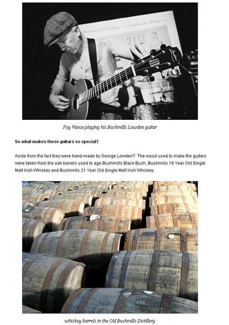 Foy Vance and his Bushmills Lowden.  He should have mentioned this since he was in bourbon country when I saw him...
