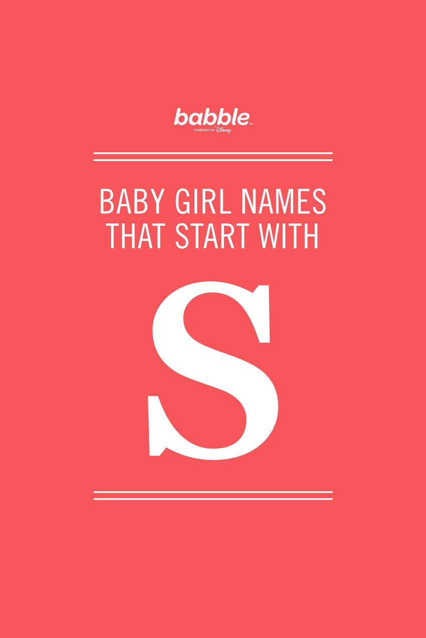 Girl Names That Start With S