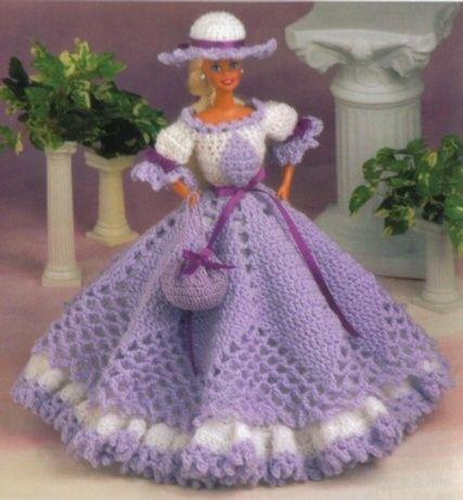 free crochet doll dresses   Fashion Doll Collection Crochet Pattern ...