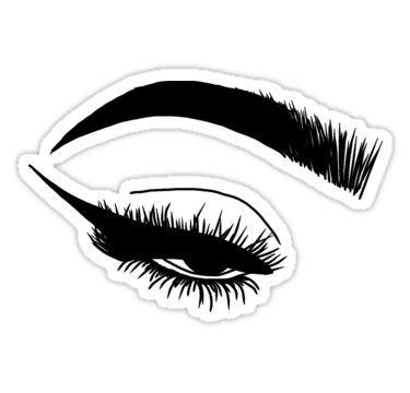 Set of Four Eyelash decal laptop decal mug decal vinyl decal makeup decal
