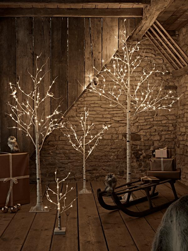 quality design 4e476 9d7fa Birch Indoor Outdoor Light Up Trees | Seasonal Decor | Birch ...