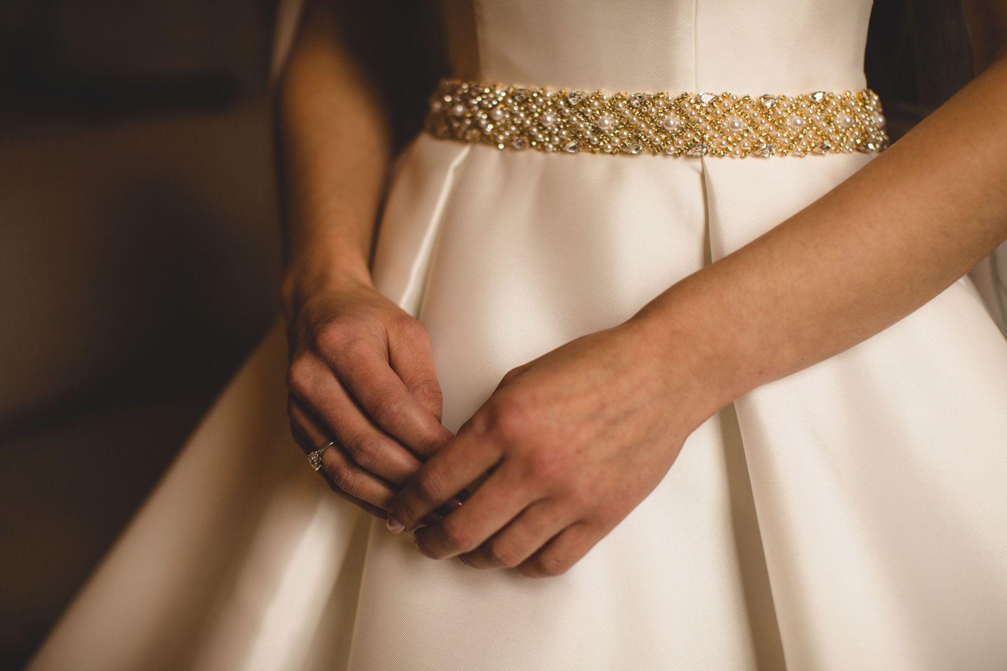 Wedding dress Essence of Australia dress d1875 gold pearl