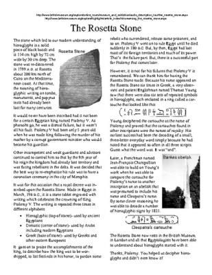 The Rosetta Stone Five Printable Worksheets Crossword And