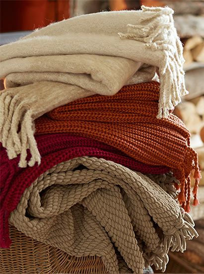 Fall Decorating - time to bring out some color, texture and visual interest thru throws on the sofa or favorite chair.