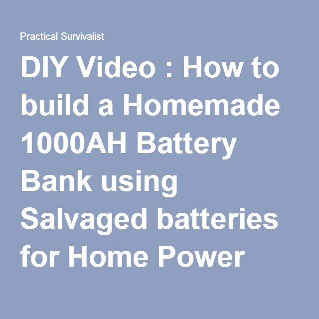 DIY Video : How to build a Homemade 1000AH Battery Bank using ...