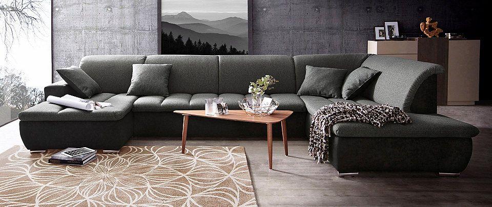 Wohnlandschaft, im modernen Materialmix Jetzt bestellen unter   - moderne wohnzimmer couch