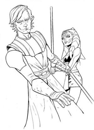 Ahsoka And Anakin Star Wars Coloring Pages | the clone wars and ...