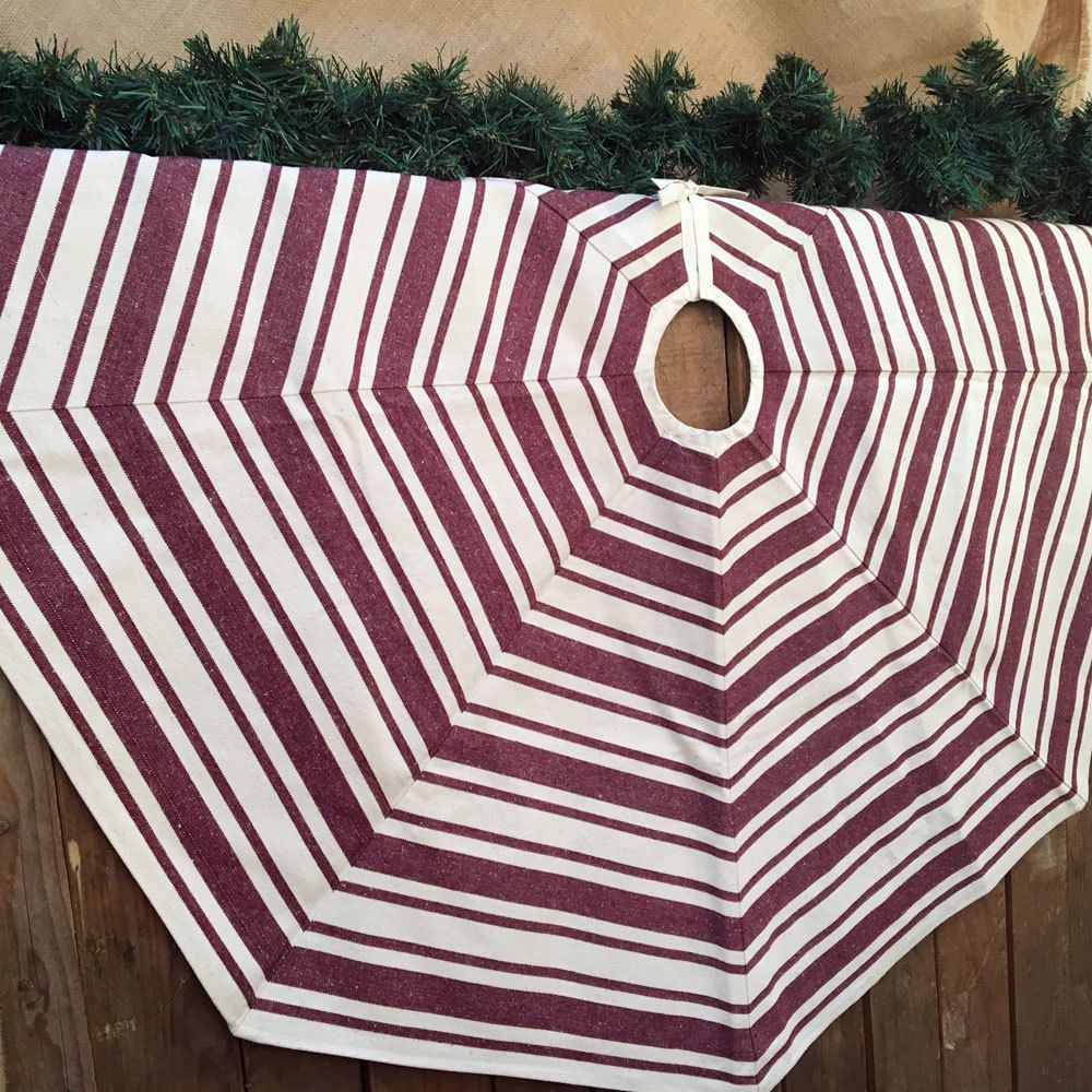 Red Striped Christmas Tree Skirt - Candy Cane - from Jubilee Homestyle   Christmas tree skirt ...