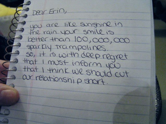 these breakup letters are the best and worst ever seen break - breakup letters