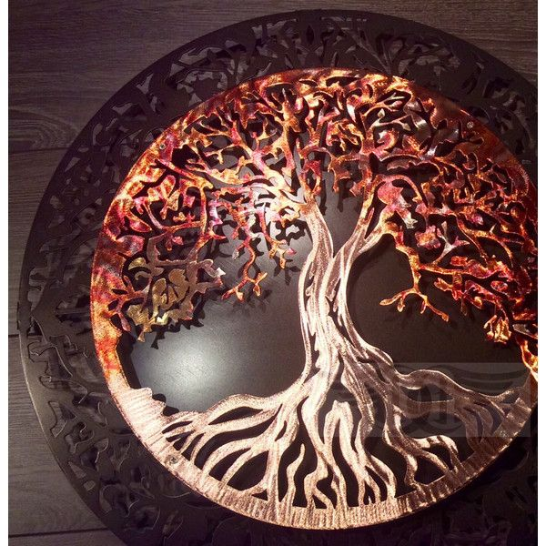 Raw Ground and Heated Copper Tree of Life Decor Wall Art (£220 ...