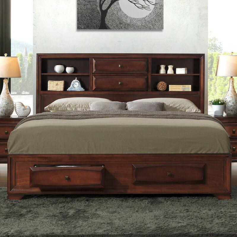 Beagan Storage Platform Bed Furniture, Solid wood