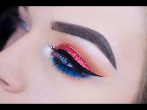 Red White And Beautiful In 2020 4th Of July Makeup Smokey Eye Makeup Youtube Makeup