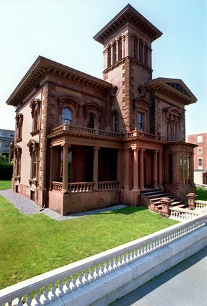 Victoria mansion in portland maine maine towns for Maine residential architects