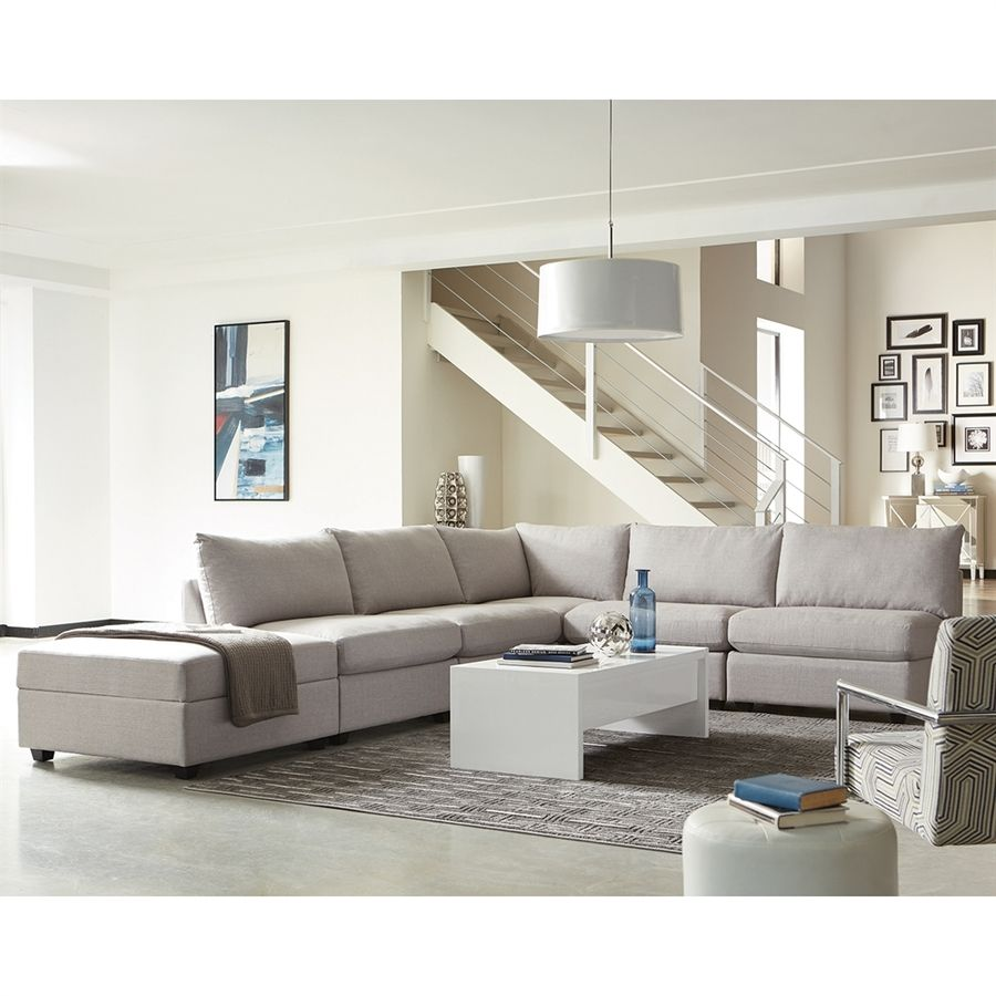 Scott Living Charlotte Casual Gray Sectional
