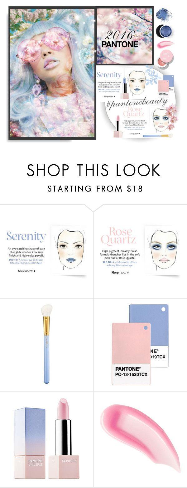 """Pantone Beauty 2016"" by mkanzee ❤ liked on Polyvore featuring beauty, MAC Cosmetics, Sephora Collection, Chantecaille, Estée Lauder, pantone2016 and pantonebeauty"