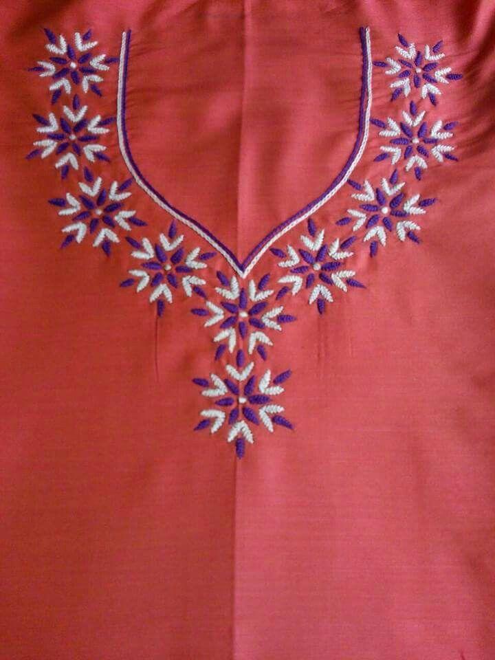 Pin By Sumana Upadhyaya On Embroidery On Kurta Pinterest