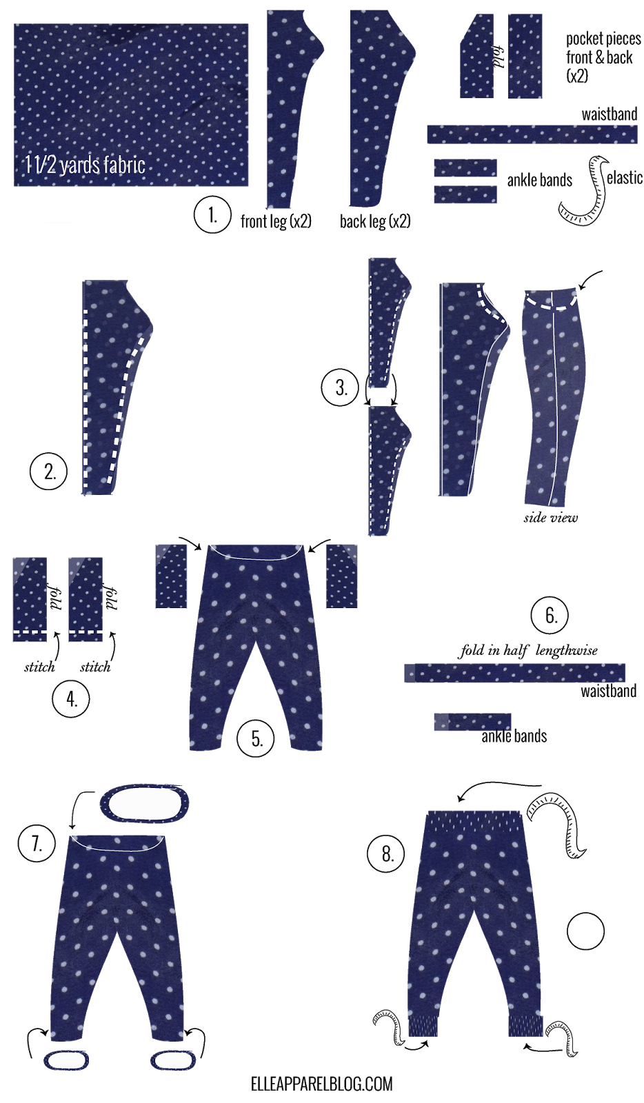Tutorial Tuesday :: Track Pants Sewing Tutorial from Elle Apparel ...
