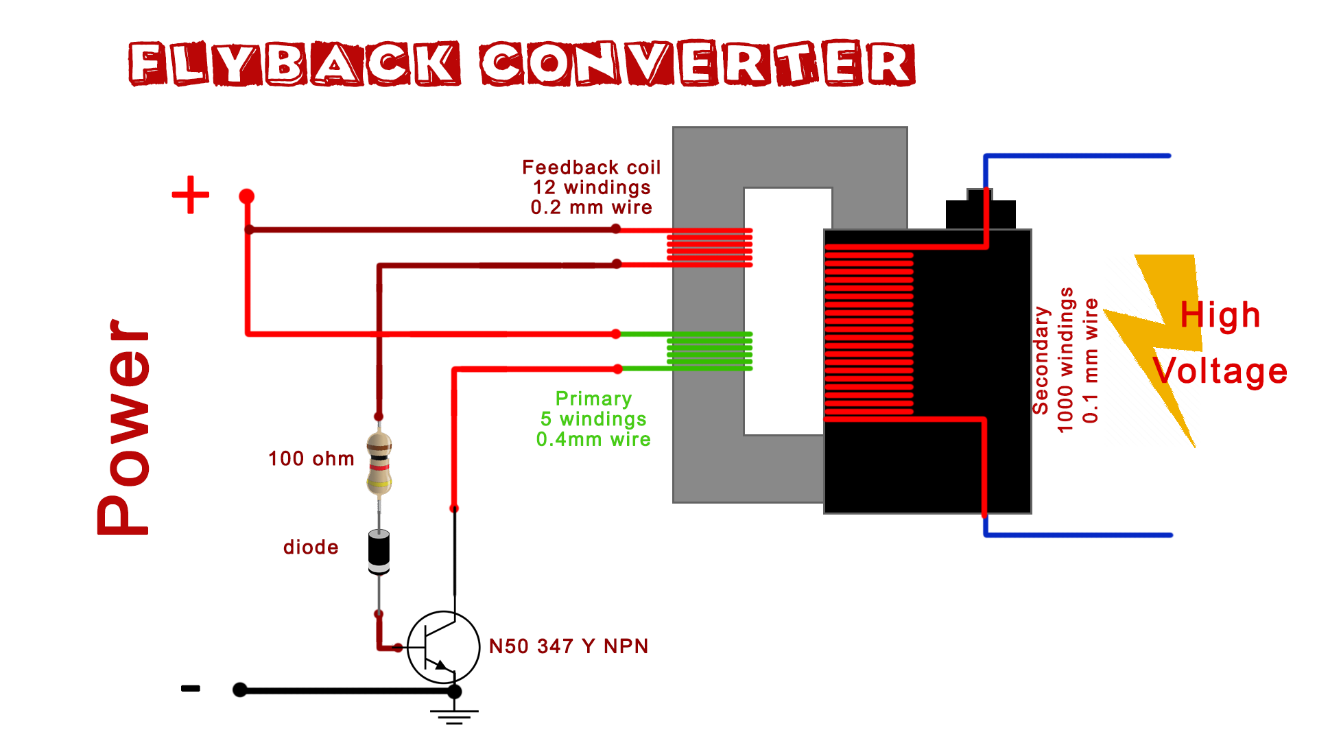 flyback transformer wiring diagram image result for voltage booster circuit with flyback transformer  flyback transformer