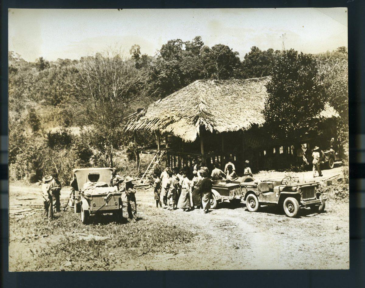 Willys Wagon elephant   KACHIN TRIBESMEN OF NORTH BURMA AID ALLIES IN WAR AGAINST THE ...