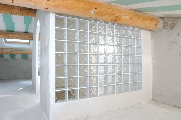 Bricolage avec Robert-mur en brique de verre-51 SdB Pinterest