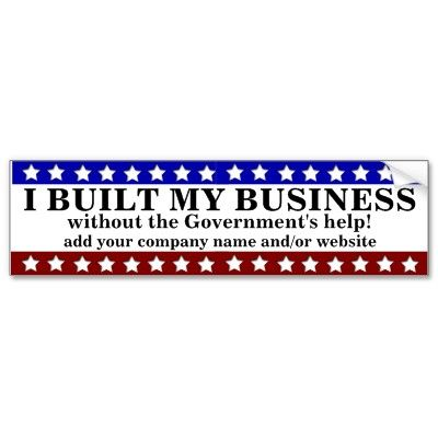 I built my business bumper stickers 4 20 in response to obamas you didnt build that to small business owners this bumpersticker says you did build