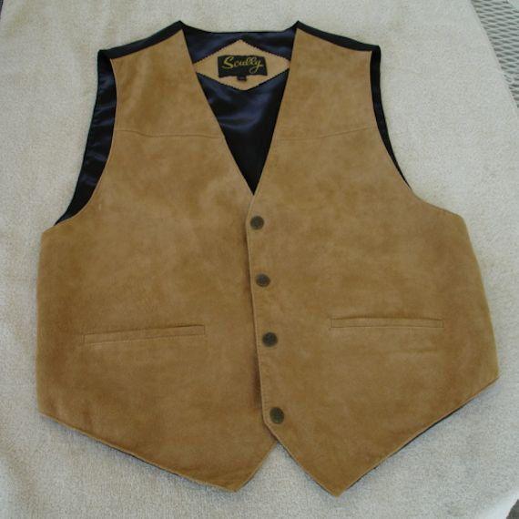 Men's Vintage Vest Western Style Waistcoat with Wide Lapels Western Square Dance Wyatt Earp Style cb2XSFUX