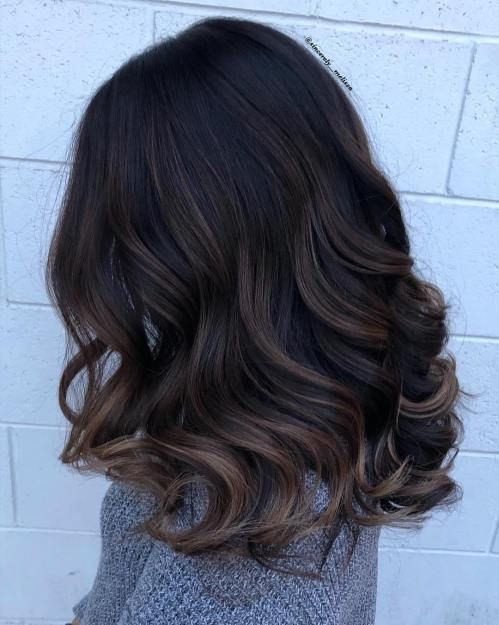 60 Hairstyles Featuring Dark Brown Hair with Highlights -   17 black hair Highlights ideas