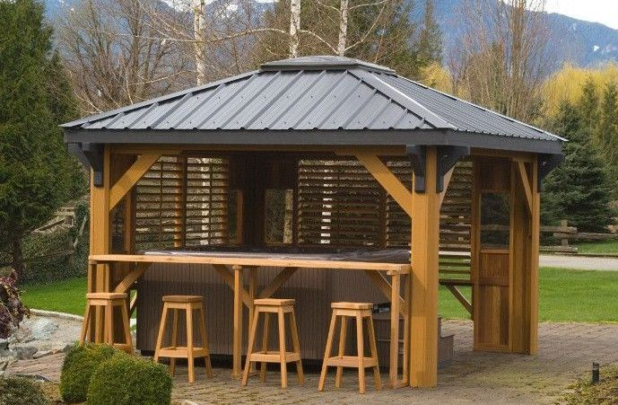 Hot Tub Gazebo With Bar Hot Tub Gazebo Hot Tub Bar Gazebo Plans
