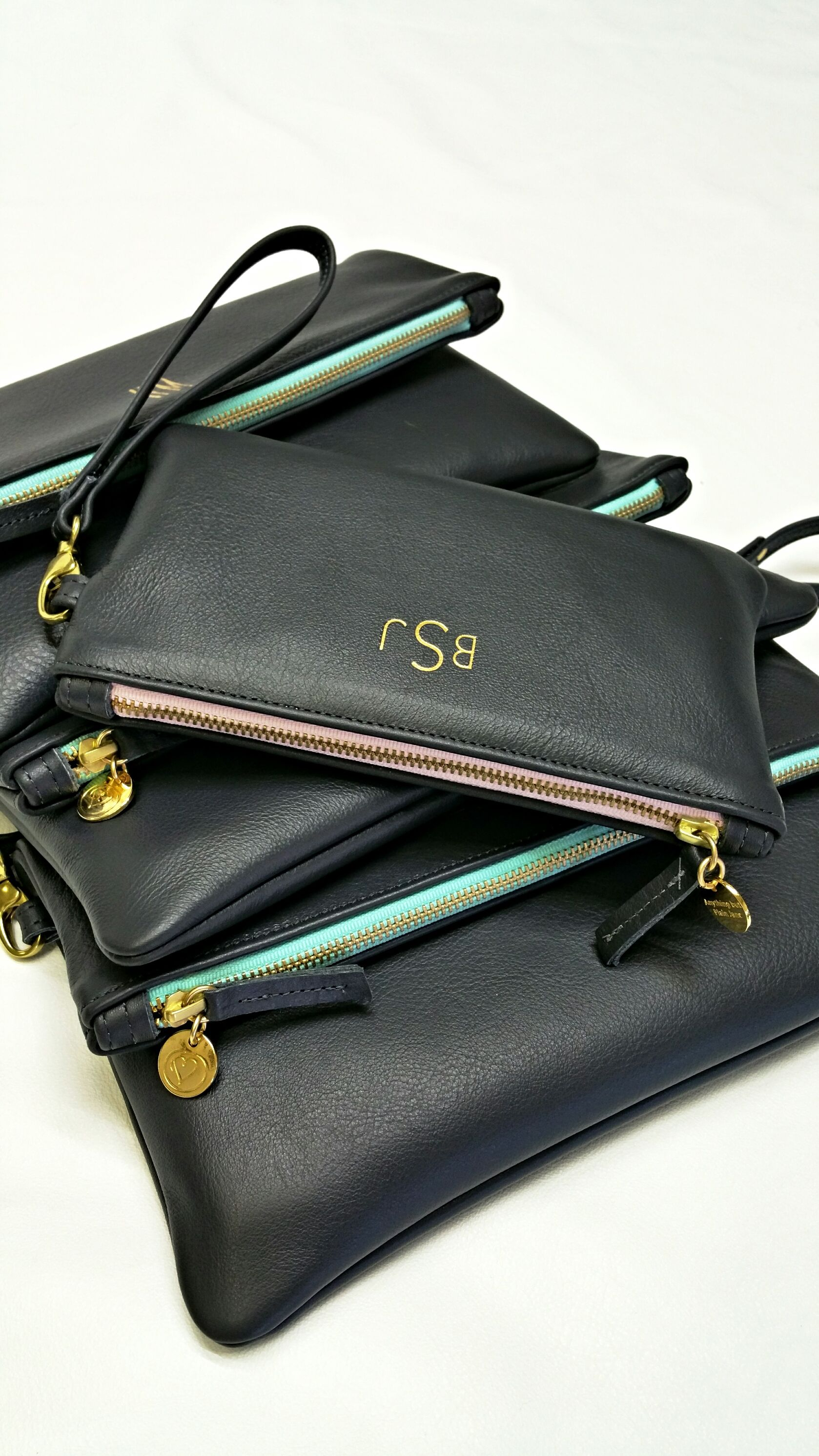 Exquisite Personalized Bridesmaids Maid Of Honor And Wedding Party Gifts Luxury Handcrafted Leather Handbags By Anything But Plain Jane