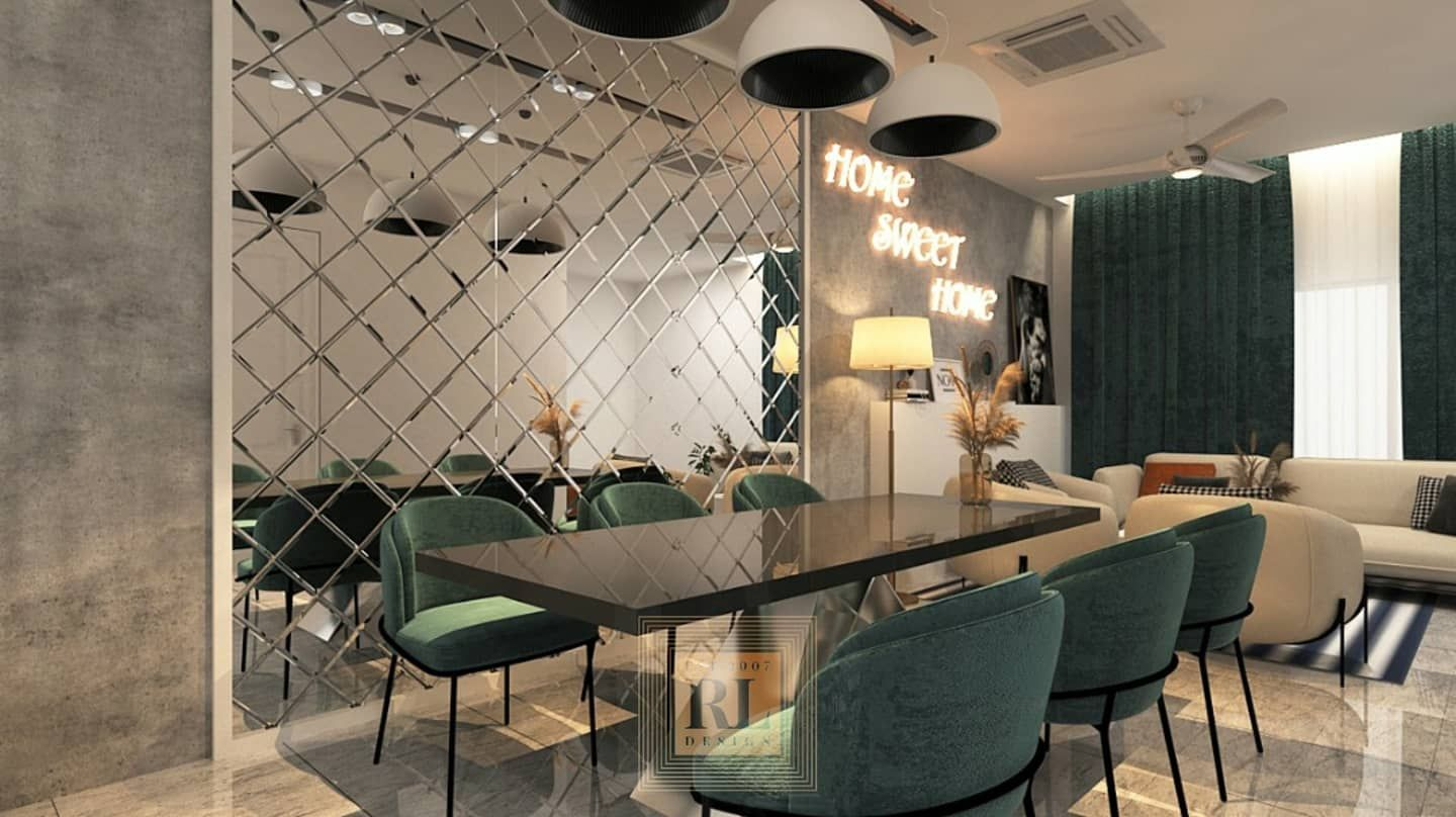 Dining Area Meru Idaman Link House Design Dining Room Wall Decor Dining Area Wine Interior Design