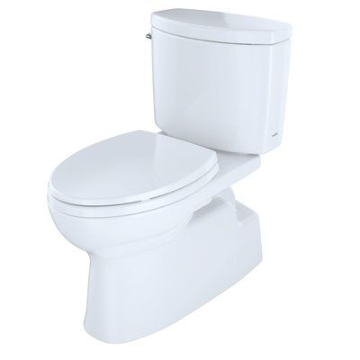 Toto Vespin Ii High Efficiency 1 28 Gpf Elongated Two Piece Toilet