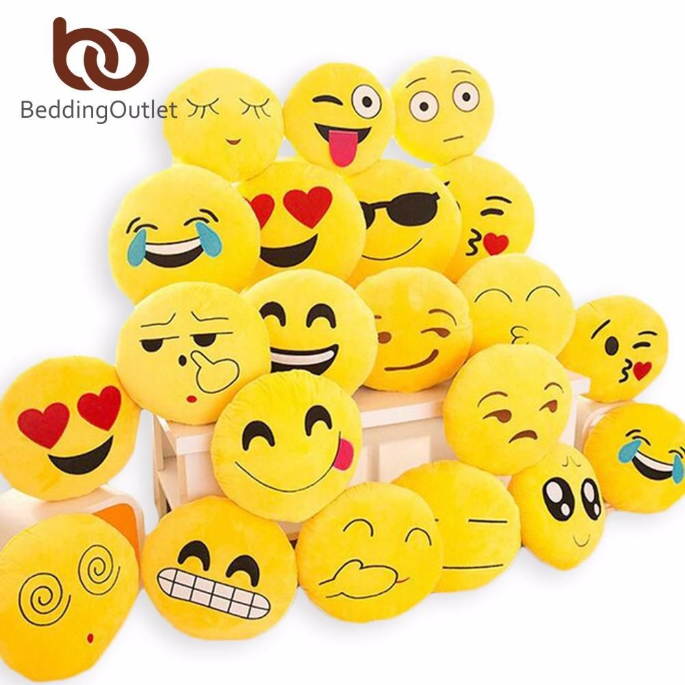Home smiley face pillow stuffed toy soft plush for sofa car
