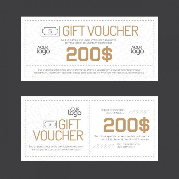 gift voucher design free vector graphic design pinterest gift