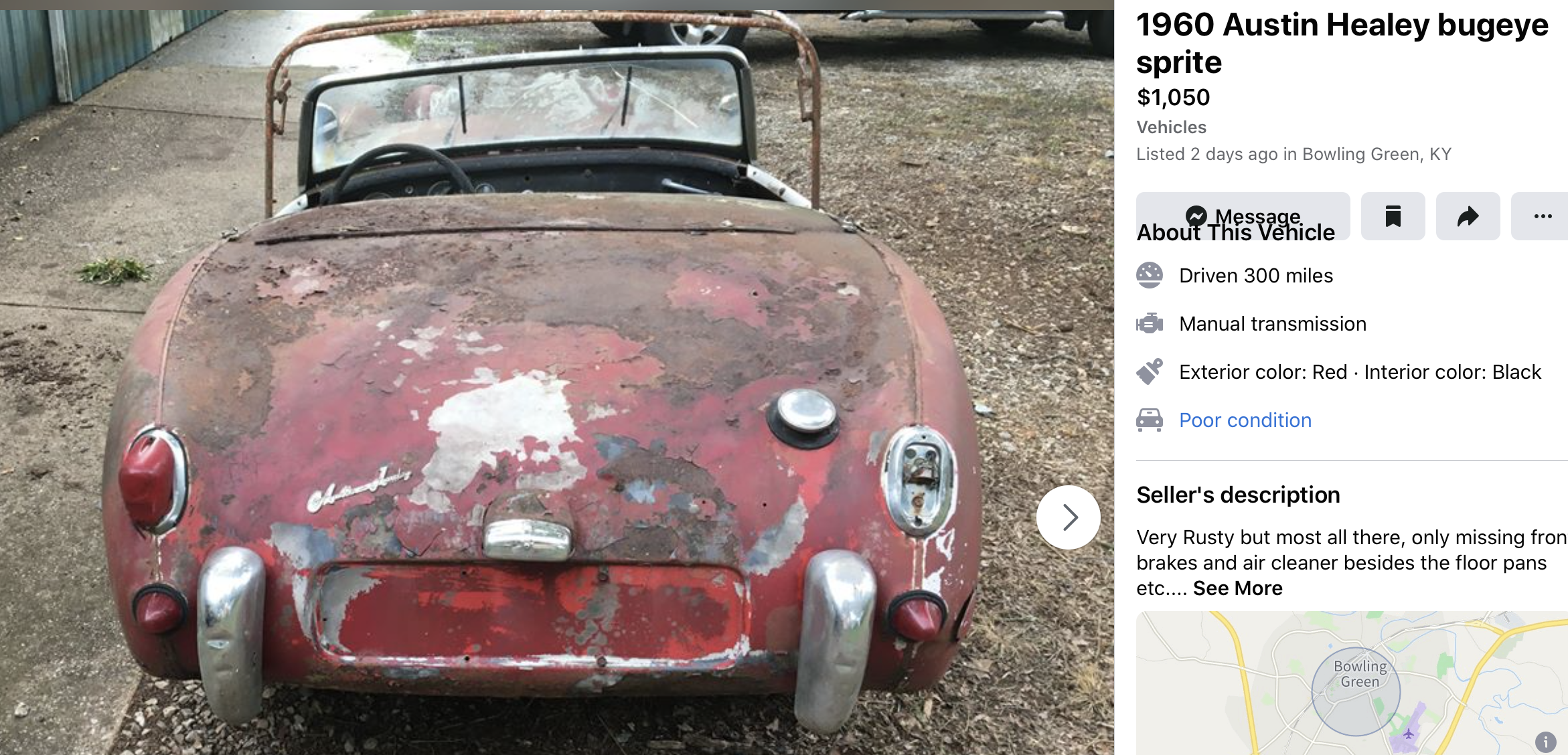 1960 Healy Bugeye Sprite Colorful Interiors Red Interiors Exterior Colors