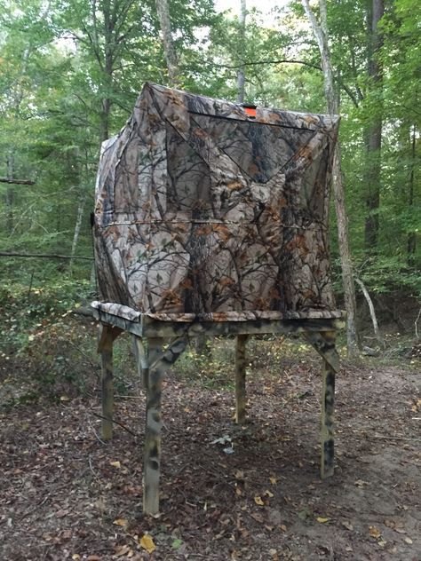 Simple Elevated Ground Blind Stand Not Sure I D Be