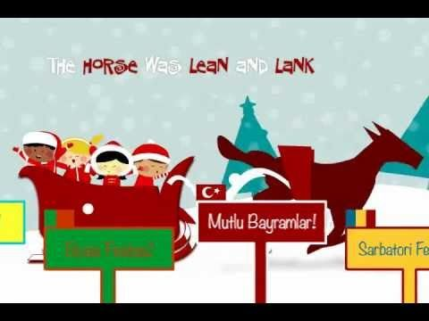 Jingle bells a rockin version of this song loved all around the cute holiday animation of jingle bells with multilingual sign posts that wish you a merry christmas and happy holidays in 18 different world languages m4hsunfo