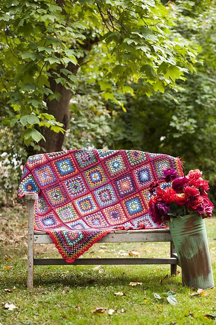 Ravelry: #15 Granny Square Throw pattern by Kaffe Fassett