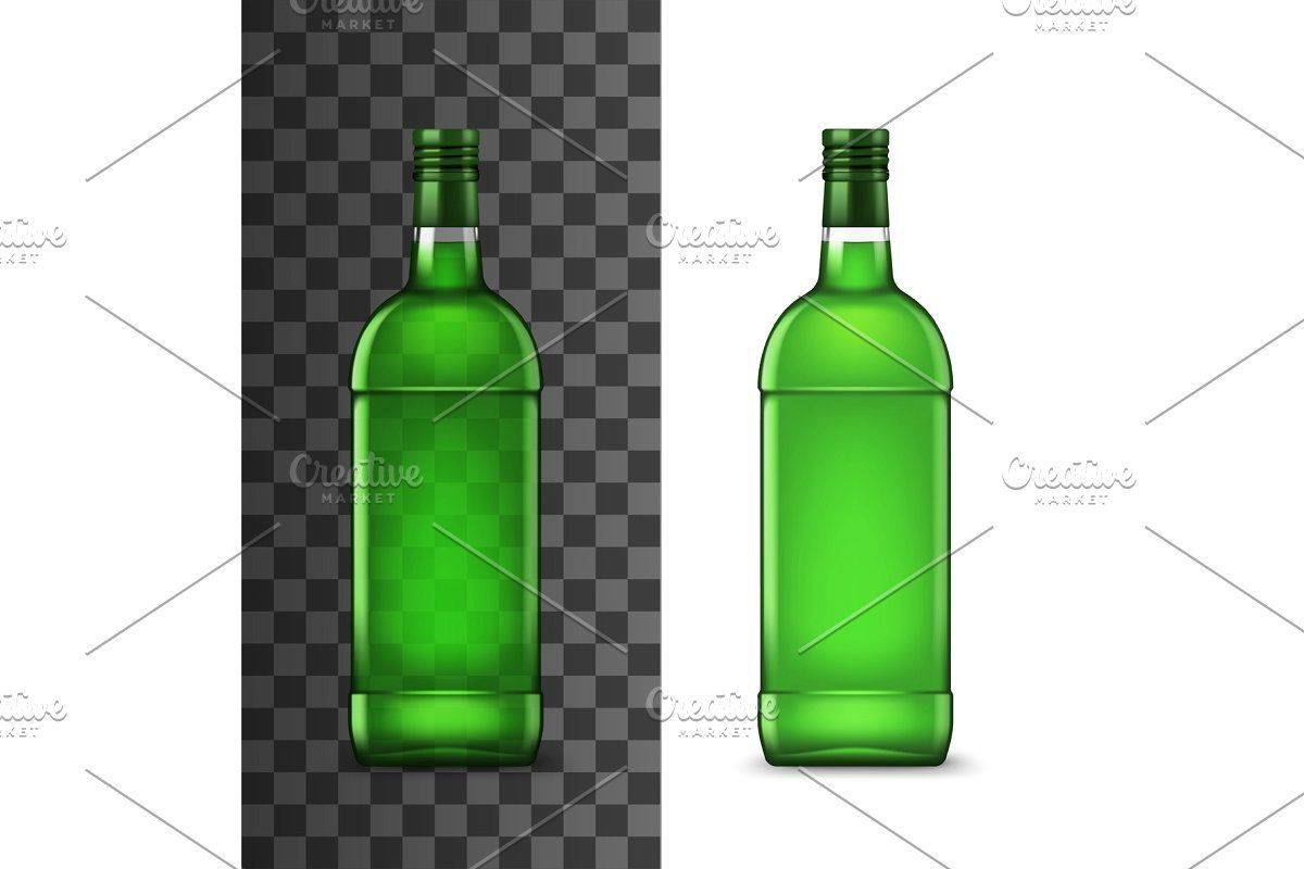 Green Glass Bottles Of Alcohol Drink In 2020 Alcoholic Drinks Green Glass Bottles Glass Bottles