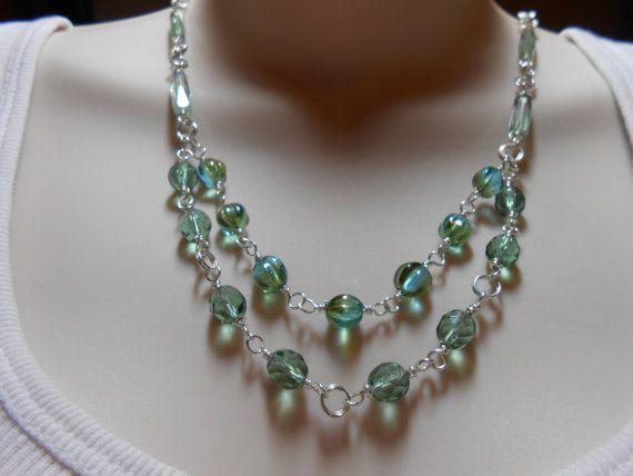 Sage Faceted Czech Tubes Tourmaline Czech Beads Green by julesnkc, $32.50